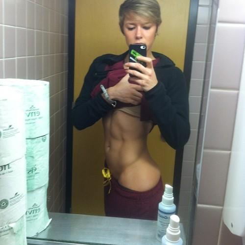 Her big Hardcore shoulder workouts finger girl:
